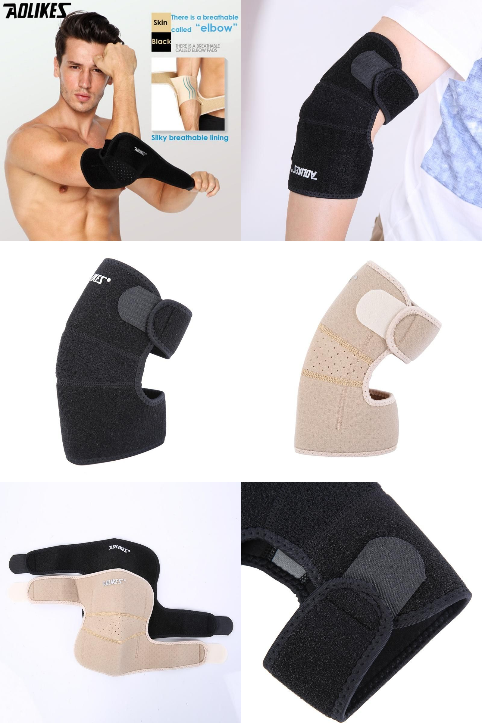 Visit To Buy Aolikes 1pcs Sport Safety Elastic Volleyball Tennis Elbow Brace Sleeve Elbow Pad For Elbow Support Tennis Elbow Brace Elbow Braces Elbow Support