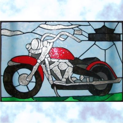 hd motorcycle stained glass