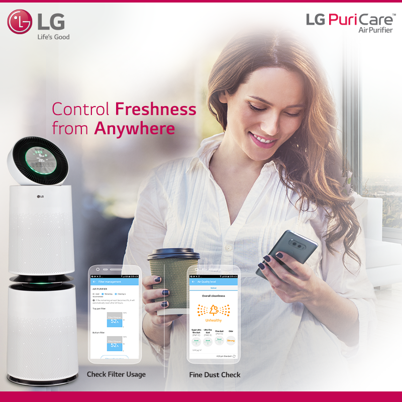 Lg Puricare Air Purifier Air Purifier Air Purification Systems Pure Air