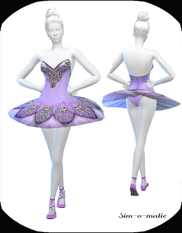 Violett Dance Dress At Sim O Matic Via Sims 4 Updates The Sims 4