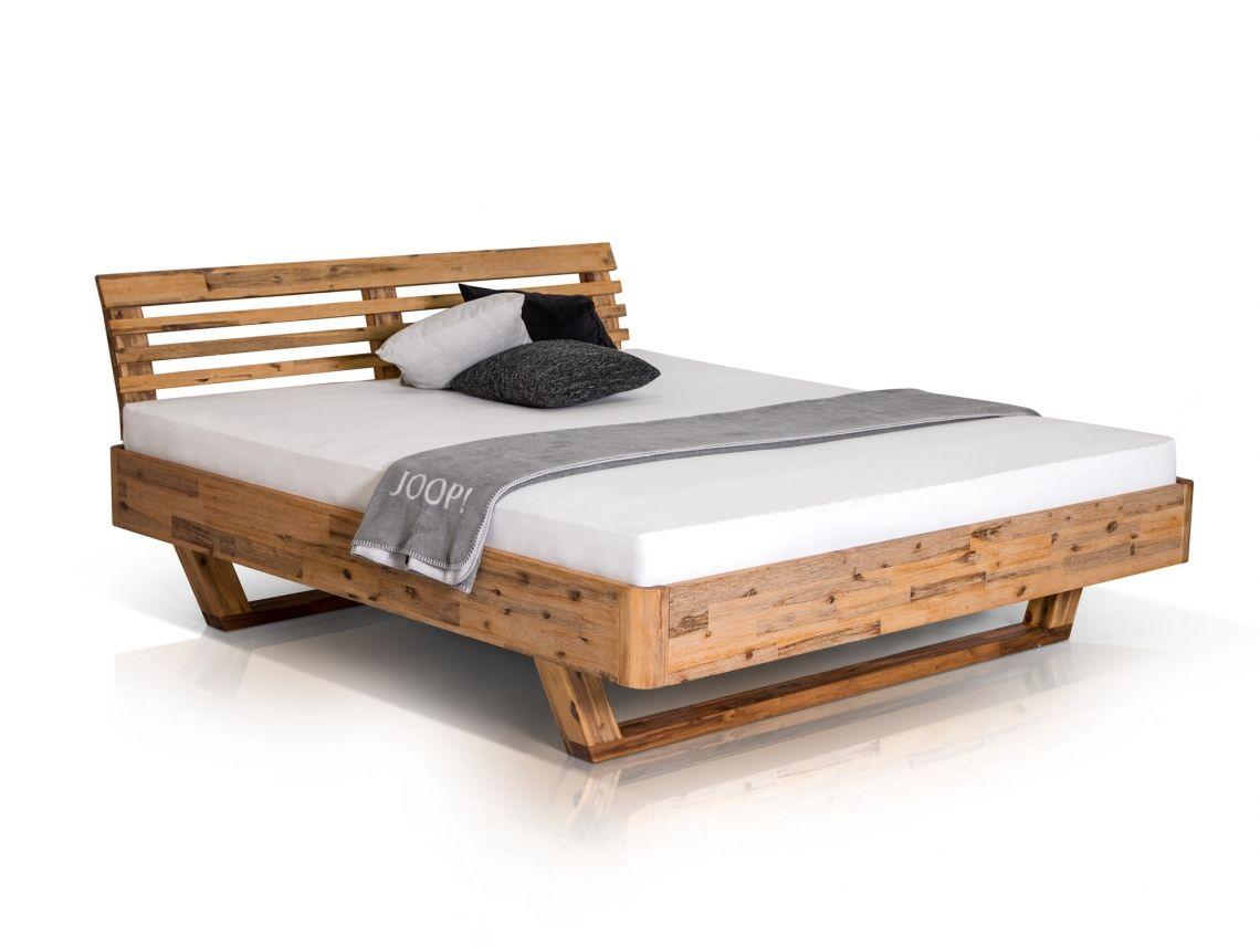 Alena Doppelbett Akazie Massiv 160 X 200 Cm Bett Massivholzbett Doppelbett
