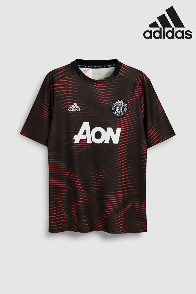huge selection of c2c26 57833 Boys adidas Black Manchester United Jersey - Black ...