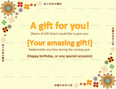 Present Voucher Template Beautiful Gift Certificate Template For Wedding Anniversary .