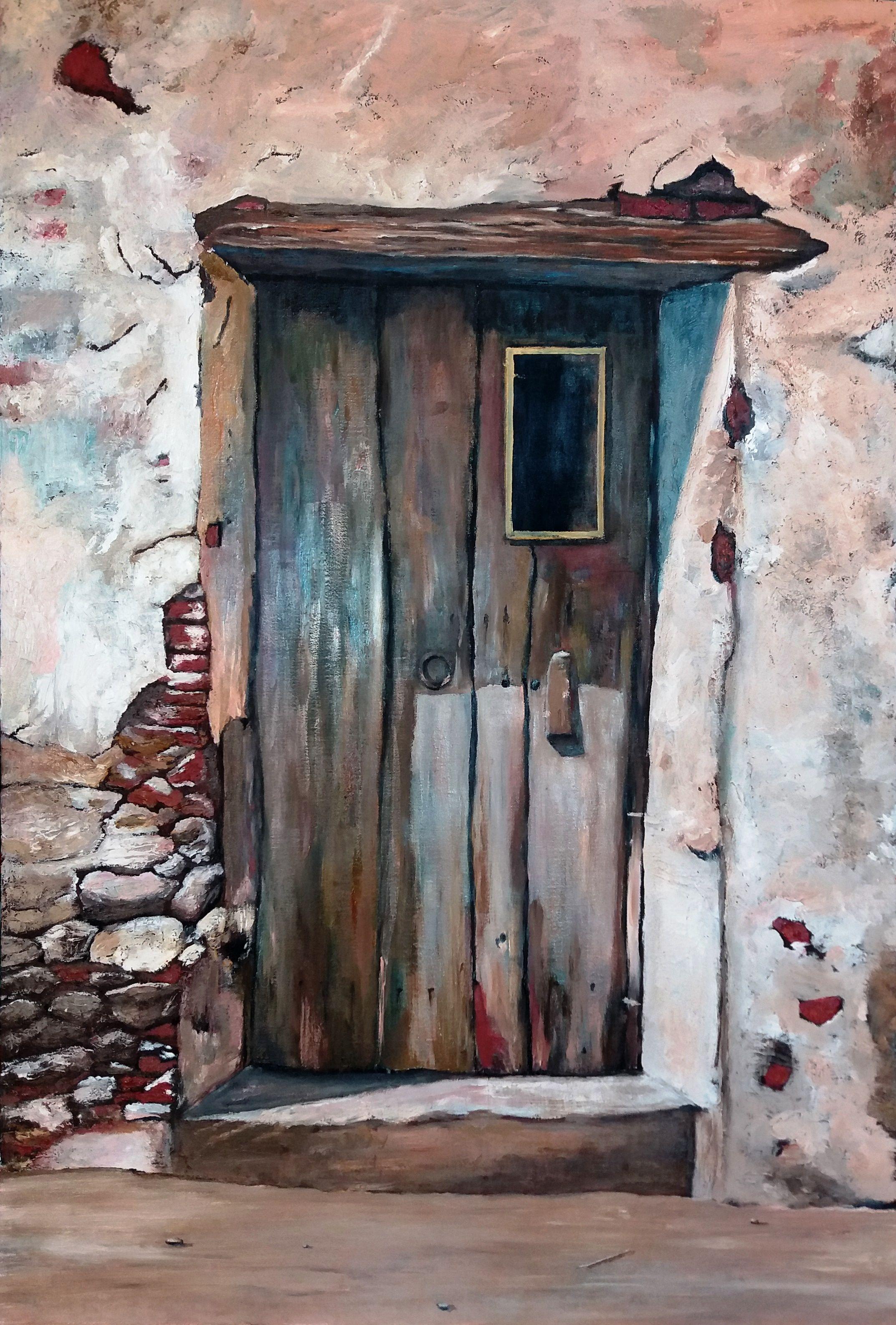 ANA MARÍA VALDÉS M. Puerta vieja óleo sobre tela de 60 x 90 cms (Réplica) Primera pintura de Ana-María en el Taller. ¡Felicitaciones! esto promete...