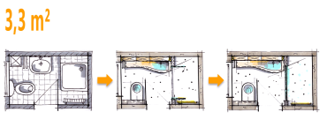 kleines bad unter 4m habenwollen pinterest kleine b der b der und bad grundriss. Black Bedroom Furniture Sets. Home Design Ideas