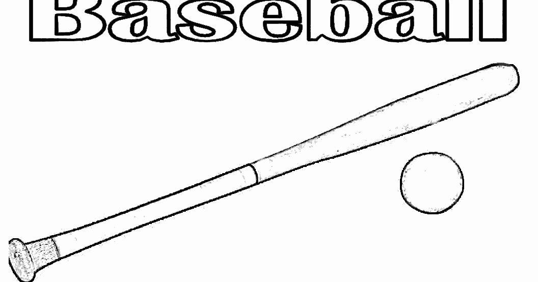 Baseball Bat Coloring Page Unique Baseball Bat and Ball