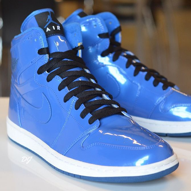 buy popular 3ef6e 71025 Air Jordan 1 Blue Patent   Sole Collector