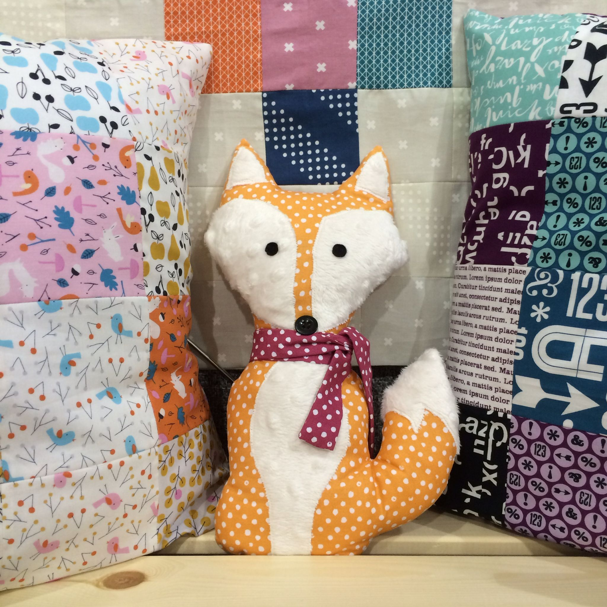The hardest working fox we know- The Fabric Fox!