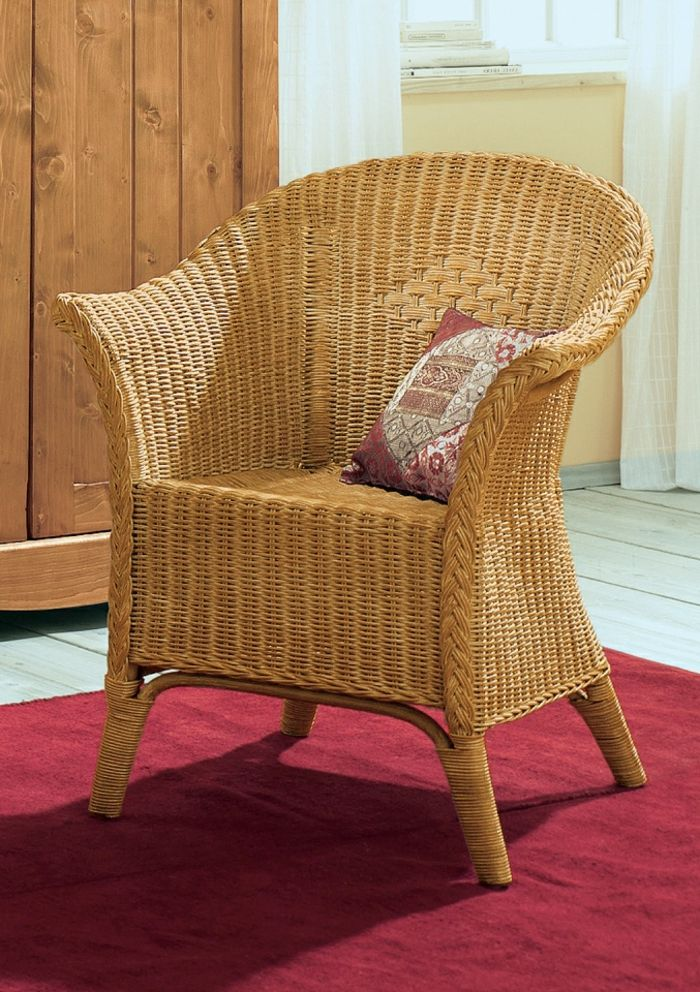 Möbel Aus Polyrattan Rot Teppich Wicker Chair Furniture
