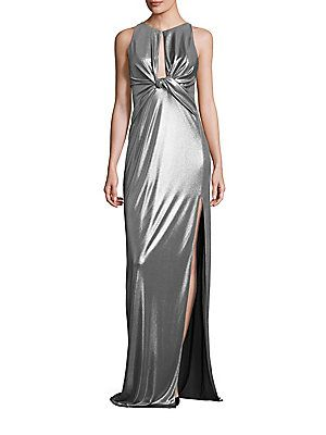 e620dbfb8a6c7e Halston Heritage Metallic Jersey Cutout Gown | Products in 2019 ...
