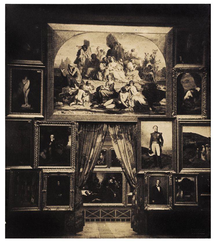 In the photograph le gray captured a photo of the paris salon in 1852 an exhibition of the - Salon des arts creatifs paris ...