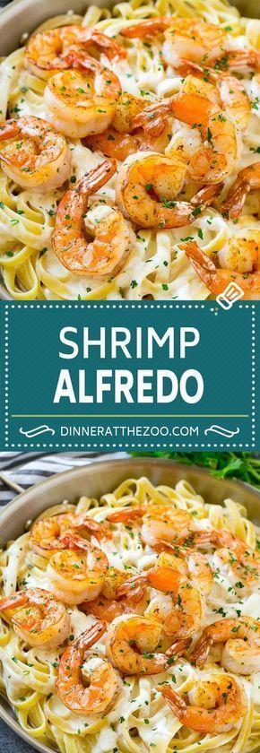 Shrimp Alfredo Recipe | Shrimp Alfredo Pasta | Shrimp Fettuccine Alfredo