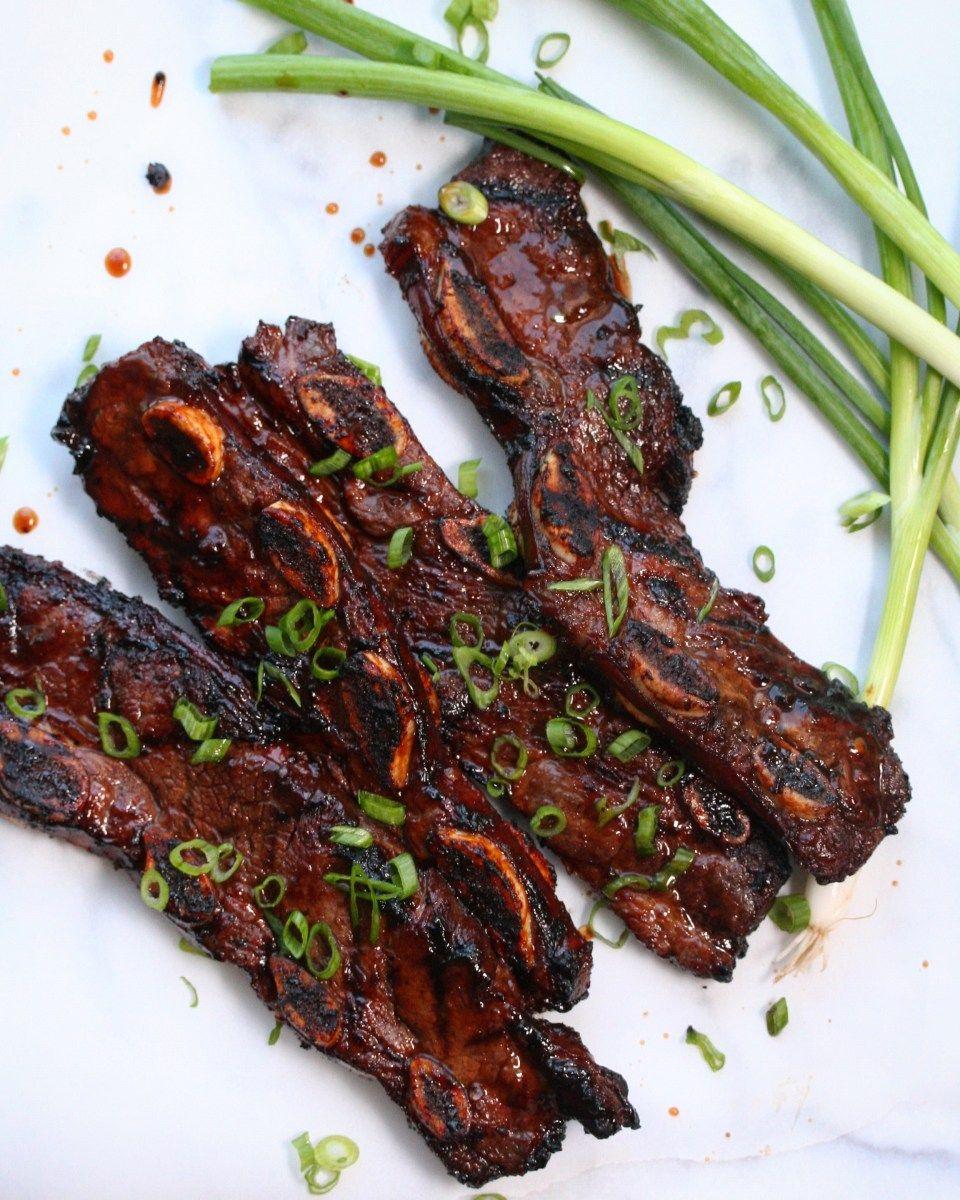 Easy Grilled Korean Short Ribs Recipe Dash Of Savory Recipe Rib Recipes Beef Short Rib Recipes Grilled Short Ribs