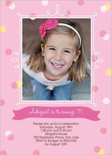 Confetti Splash Frame Birthday Invitation