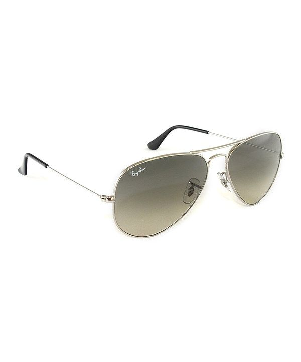 9e596427f1 xmas list   Another great find on  zulily! Ray-Ban Silver   Black Aviator  Sunglasses by Ray-Ban