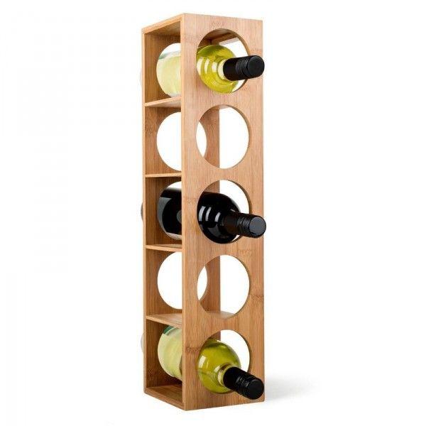 Casier A Vin Empilable Bois Bambou 5 Bouteilles Zeller Casier Bouteille Stackable Wine Racks Wine Rack Et Wine