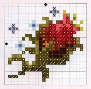 cross stitch - rosebud