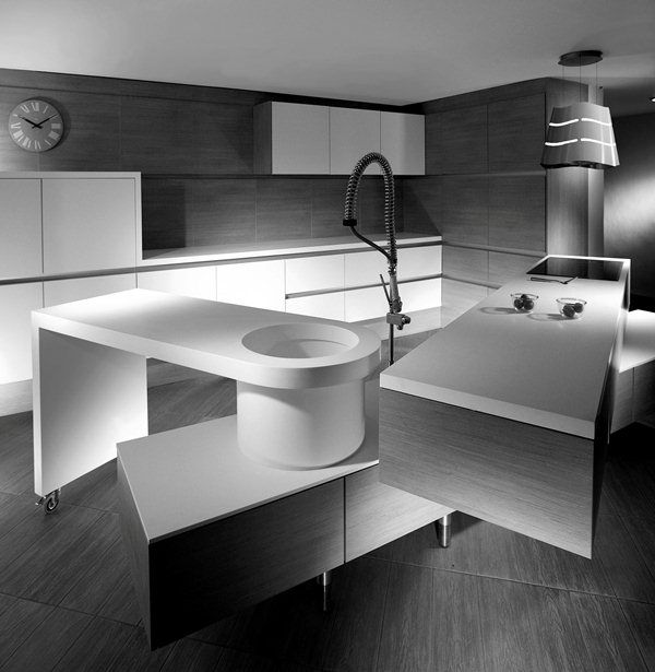 Kitchen Design, Kitchen Layouts Three Posisition To Clean Our Tools And Hand Portable Furniture Cubello Kitchen By Amr Helmy 1: Kitchen Layo...