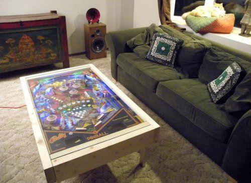 diy pinball machine coffee table | repurposing projects