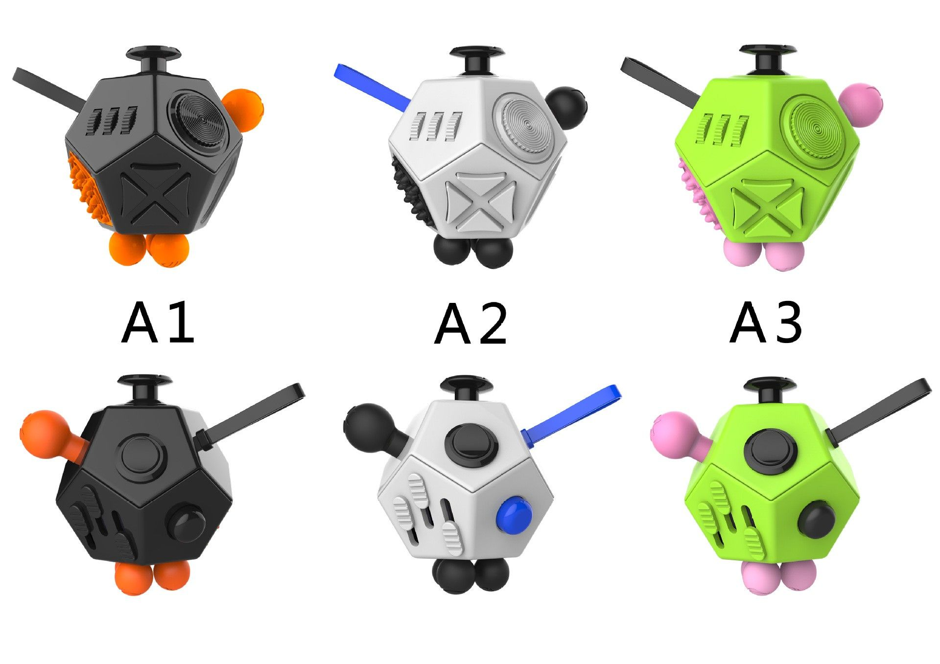 Factory Wholesale 12 Side Magic Fidget Cube Dice Desk Toy Mixed Color Http Www Ogodeal Com Factory Wholesale 12 Side Magic Stress Cube Fidget Cube Desk Toys