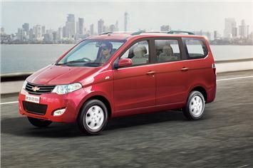 The updated Enjoy MPV gets changes made to the interior; minor exterior styling tweaks seen as well.