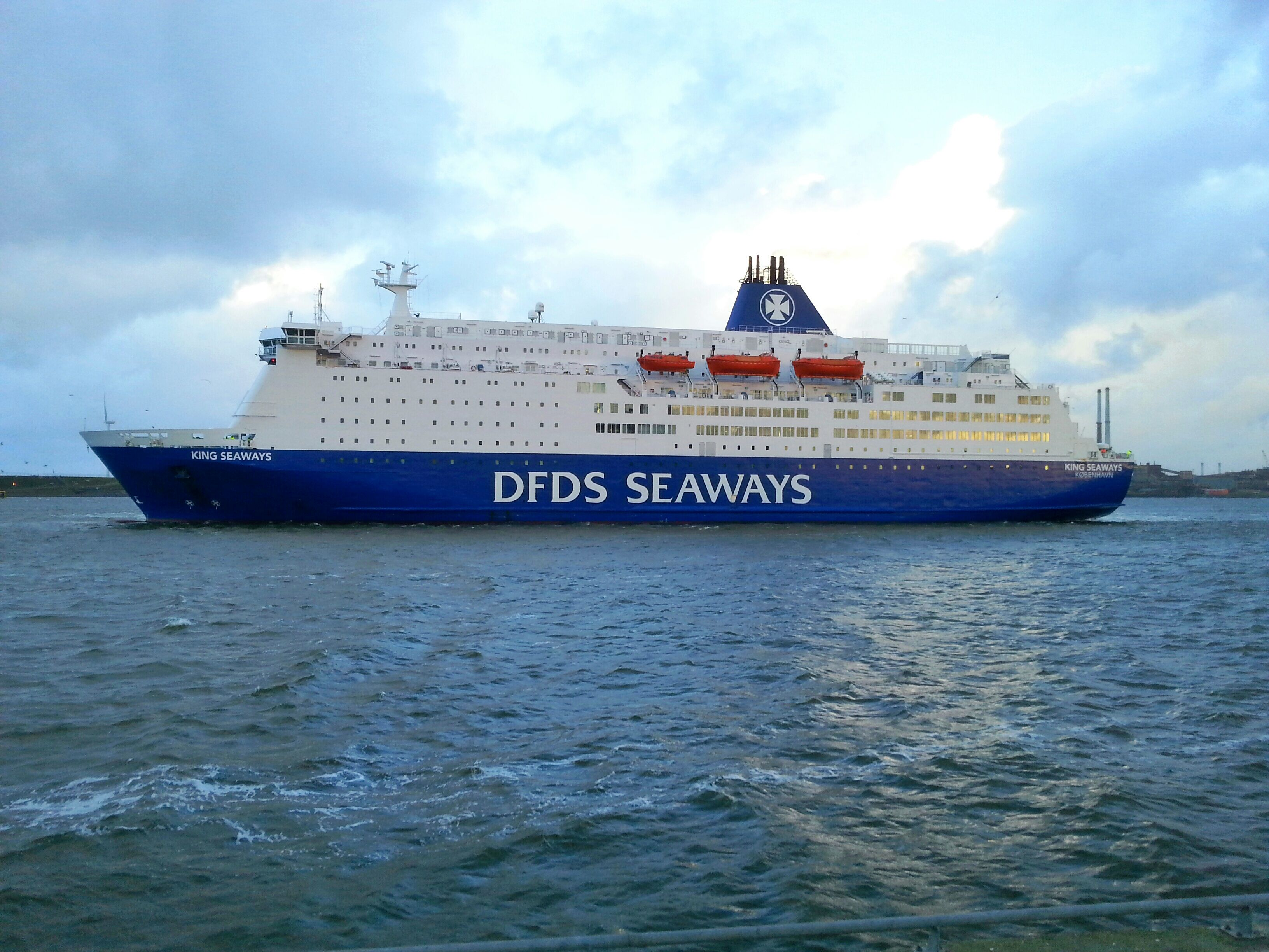 King Seaways Is Weer Terug Uit Dok Welcome Back Schepen Newcastle Upon Tyne Passagier