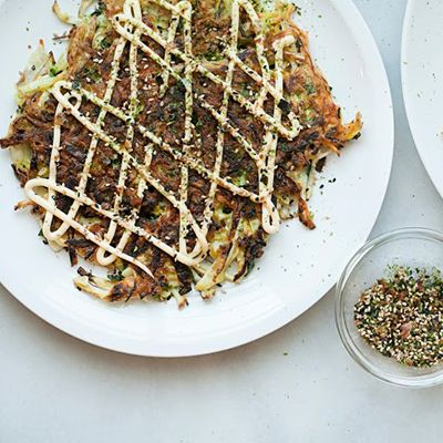 Okonomiyaki Recipe From Xiao Bao Biscuit Tasting Table Recipe Recipes Okonomiyaki Recipe Happy Foods