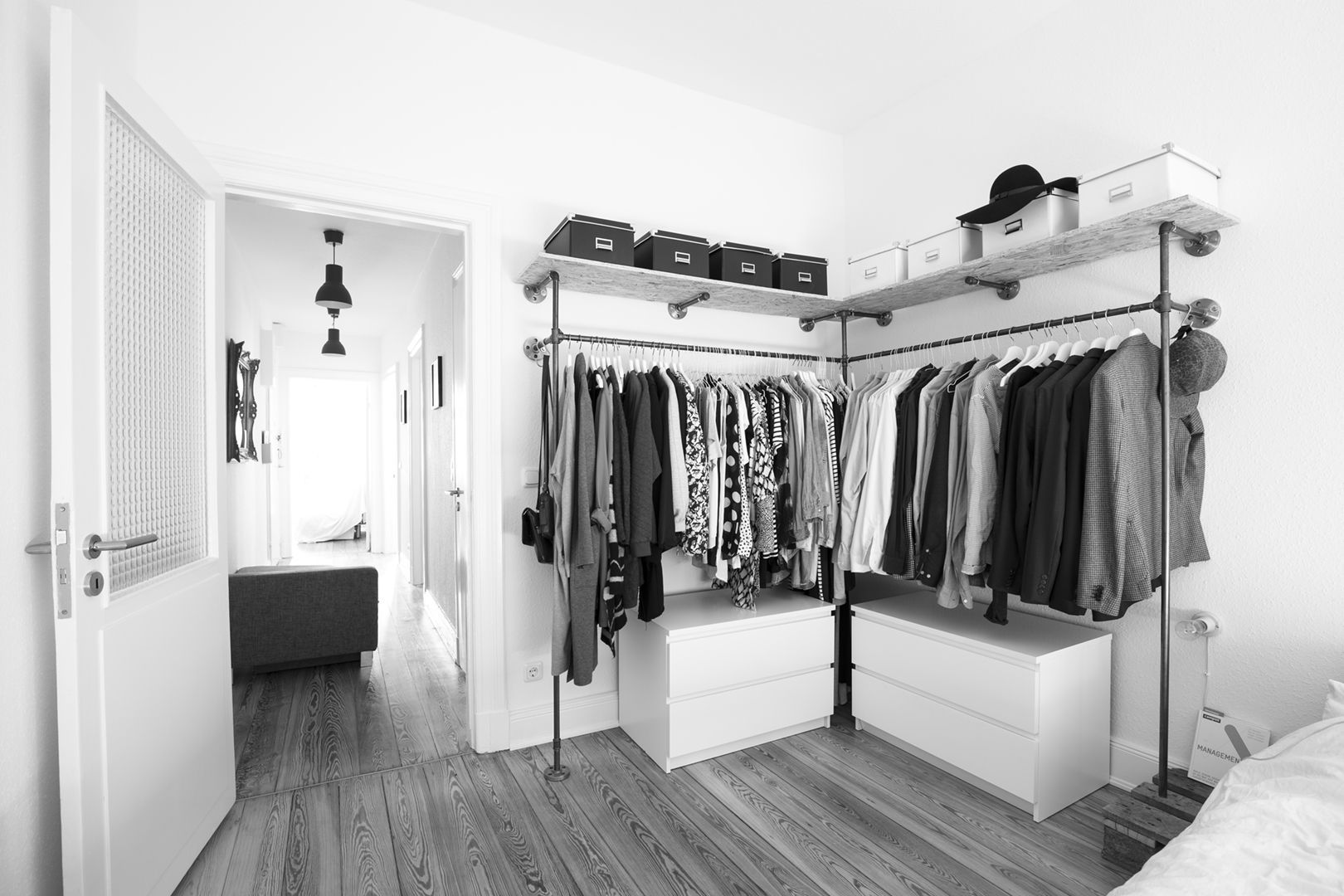 pin by anita nichols on bedroom ideas wall clothing rack on walls coveralls website id=40298