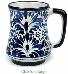 b1a4be7a098 Tapered Talavera Blue & White Coffee Mug in 2019 | for the ladies ...