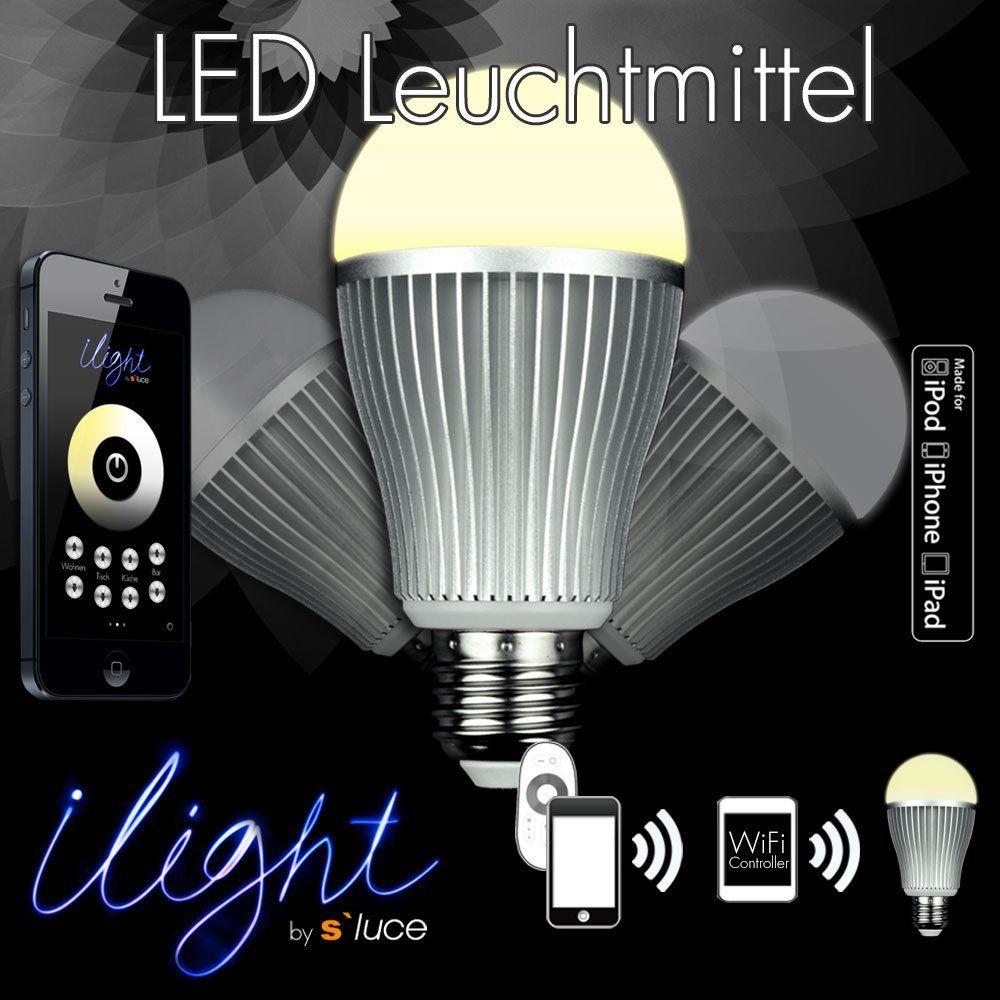 s`luce iLight E27 LEDLeuchtmittel 7W weiß WiFi