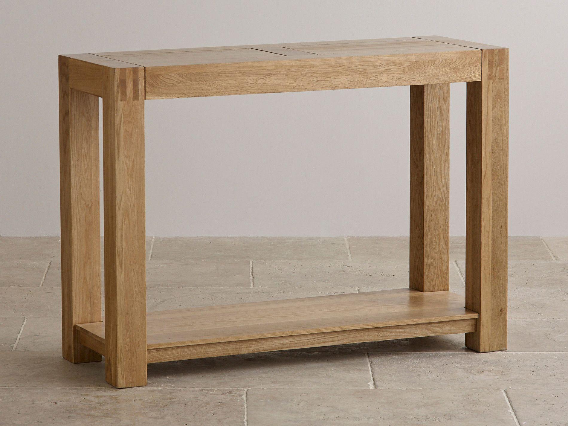 Alto Natural Solid Oak Console Table Furniture Land