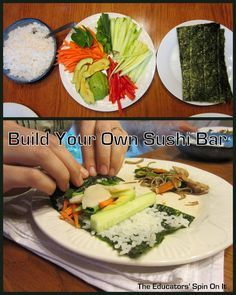 Cooking Around the World - JAPAN. Build your own Sushi Bar with kids.