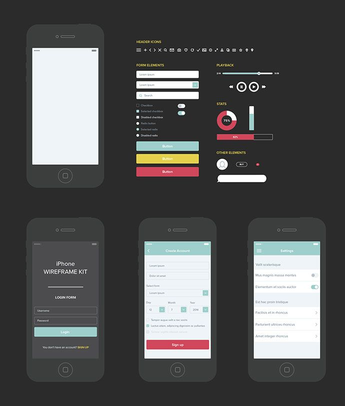 20 templates for creating high fidelity wireframes wireframes