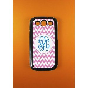 new product f125e f8e09 Amazon.com: Monogram Samsung Galaxy S3 Case - Pink Monogrammed ...