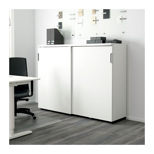 Galant Cabinet With Sliding Doors White Ikea Actual
