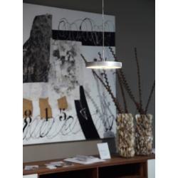 Photo of Oligo Decent Led pendant lamp with invisible height adjustment 2-flame white matt chrome gestures