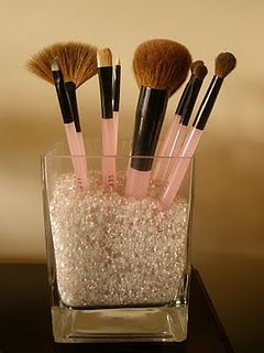 makeup brush holder and jewelry display idea using our