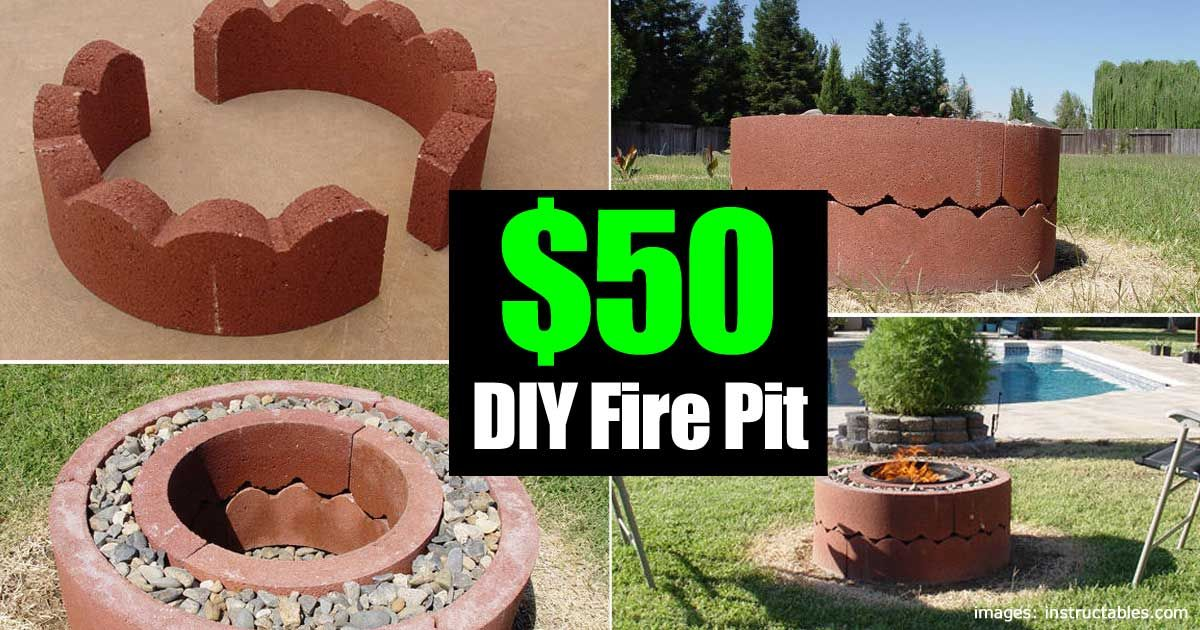 50 Dollar Fire Pit Diy And Movable Diy Fire Pit