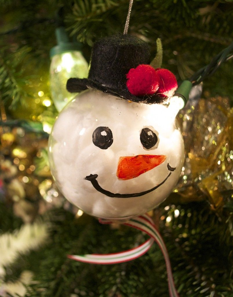 Diy Snowman Ornament From Lindeekat Handmade Ornament Ideas