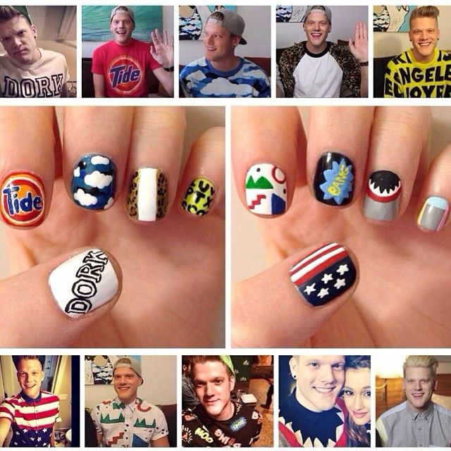 Nail art inspired by Scott's clothes. This is legit.