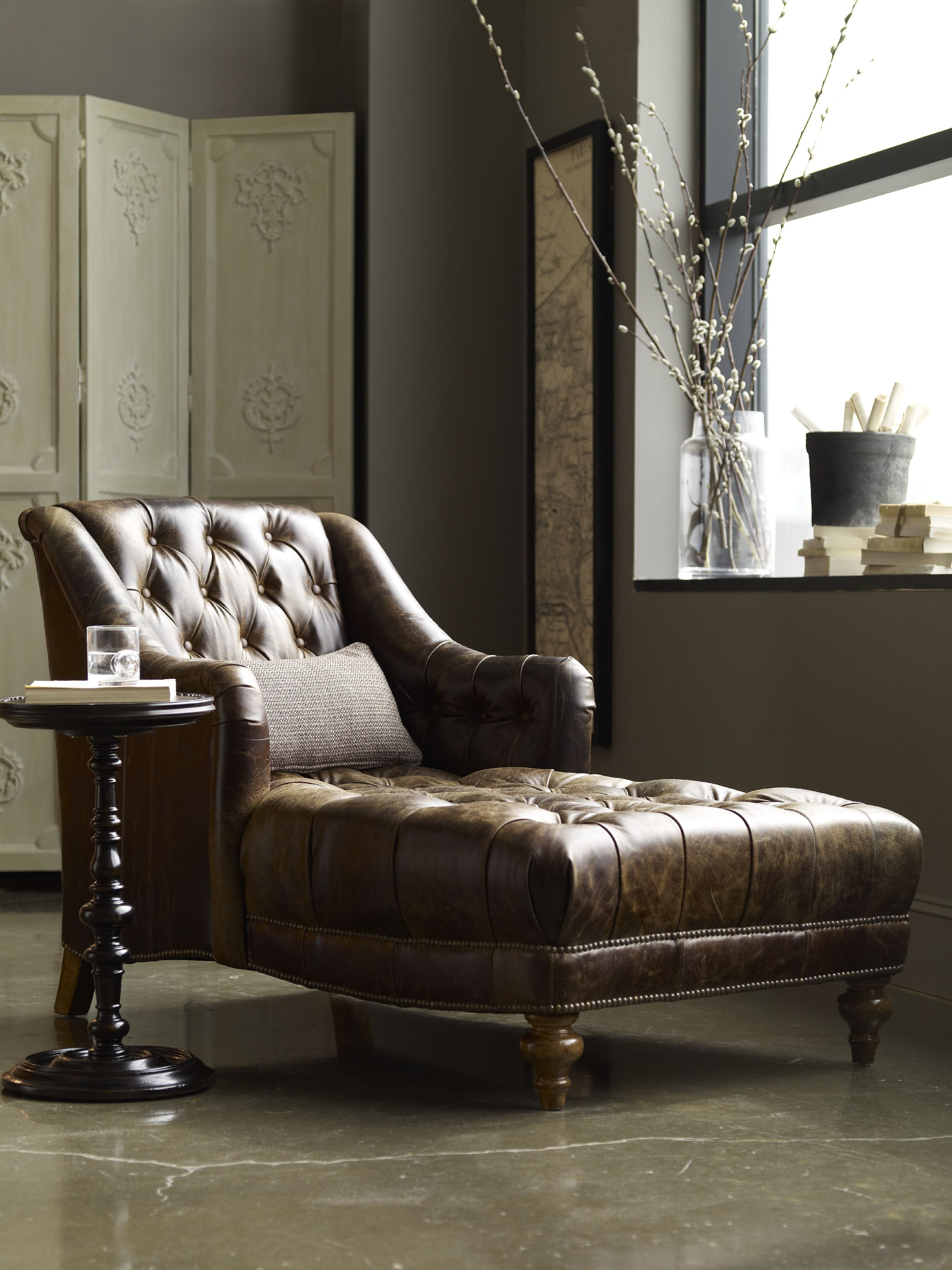 MILLER LEATHER CHAISE - Google Search | Leather | Pinterest