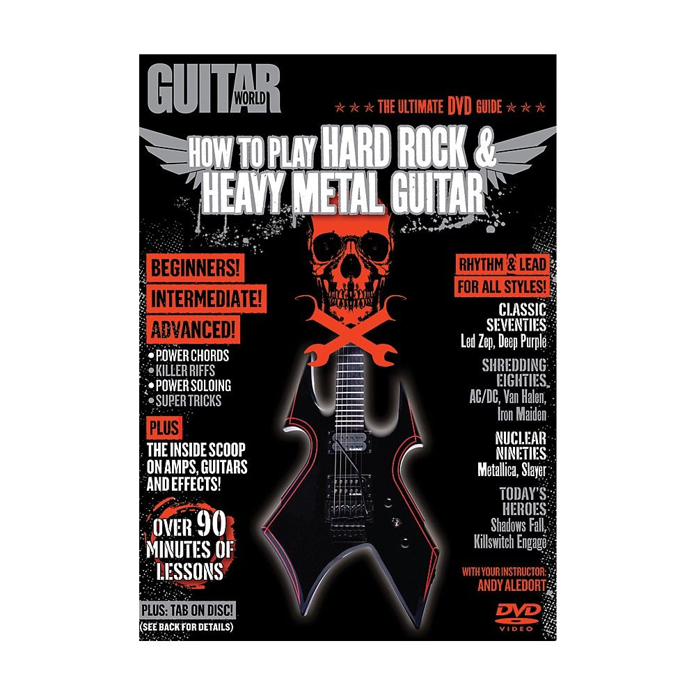 Alfred guitar world how to play hard rock heavy metal