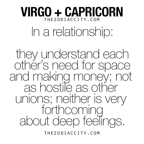 Virgo dating capricorn
