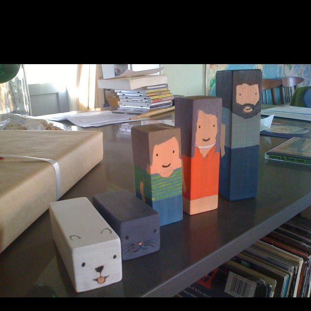 More wooden block dolls in the likeness of my friends