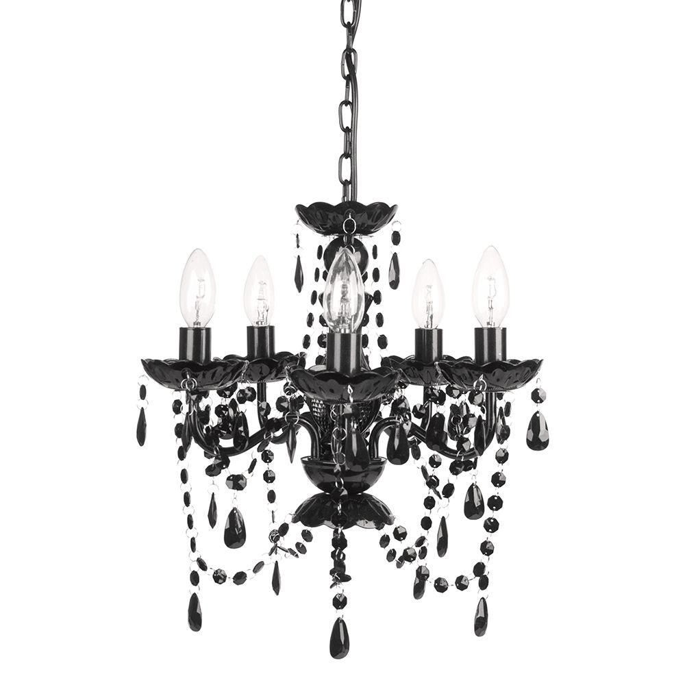 Tadpoles 5 Light Black Onyx Chandelier Home Living Room