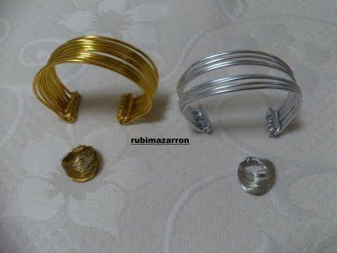 ▶ DIY. Como hacer anillo de hilo de alambre. - YouTube