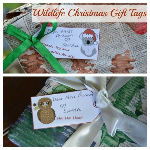 Australian Christmas Cards Free Download.Free Wildlife Christmas Gift Tags Christmas Resources