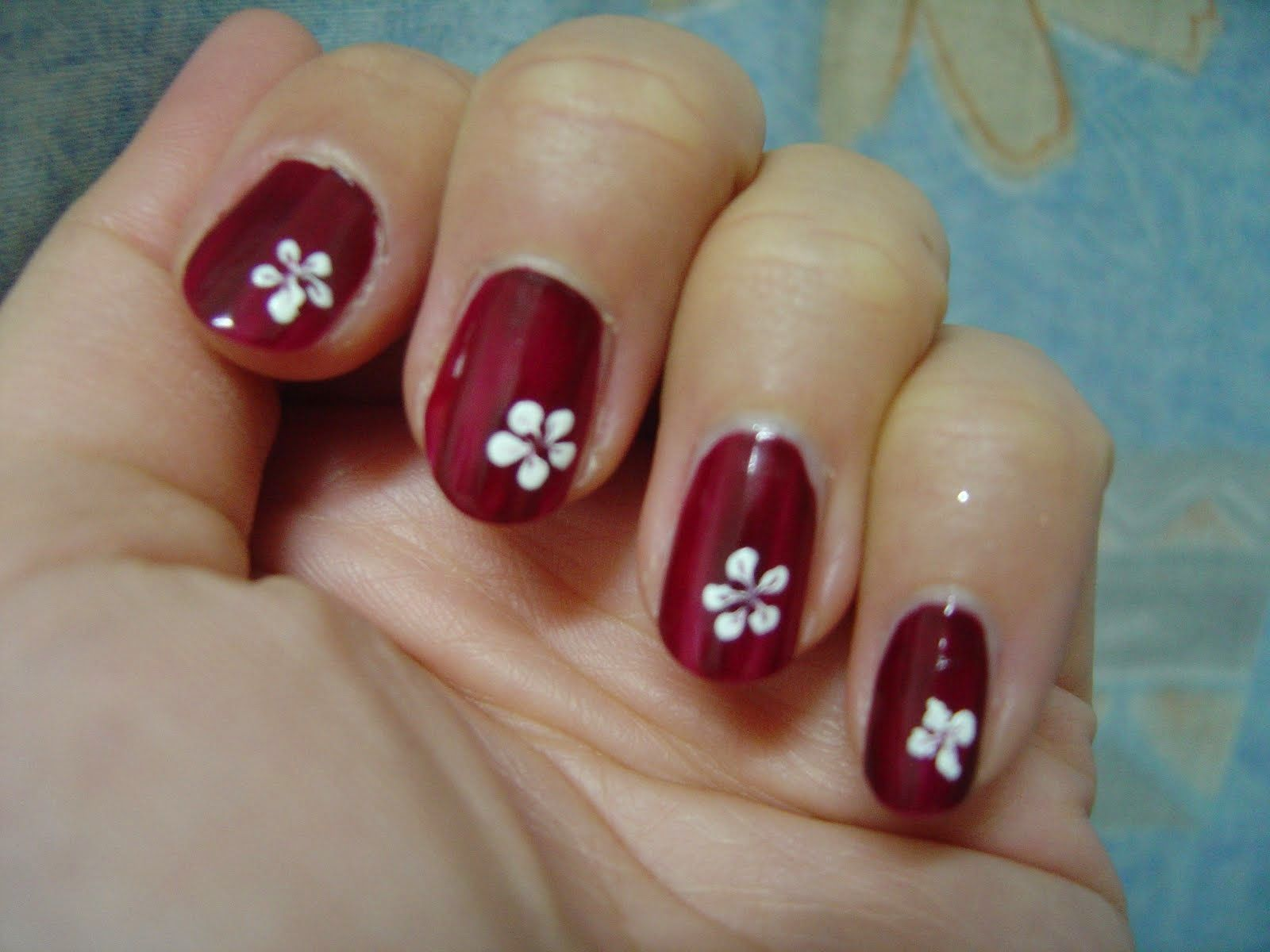 Simple Flower Nail Design Ideas | Nailed it! - On the tip of your ...