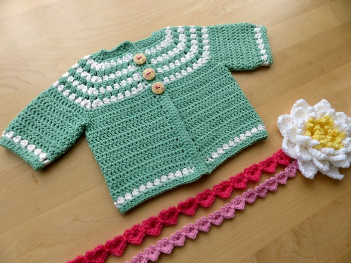 Cluster Yoke Baby Cardigan A Free Pattern From Ravelry Crochet