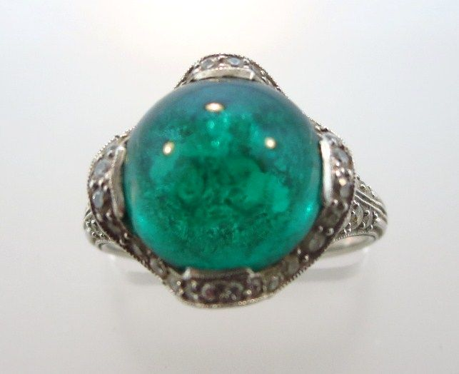 Tiffany & Co. 5 Carat Emerald and Diamond Ring.